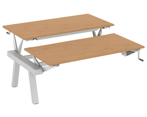 Elite Linnea Elevate Height Adjustable Double Bench Shared Inset Leg