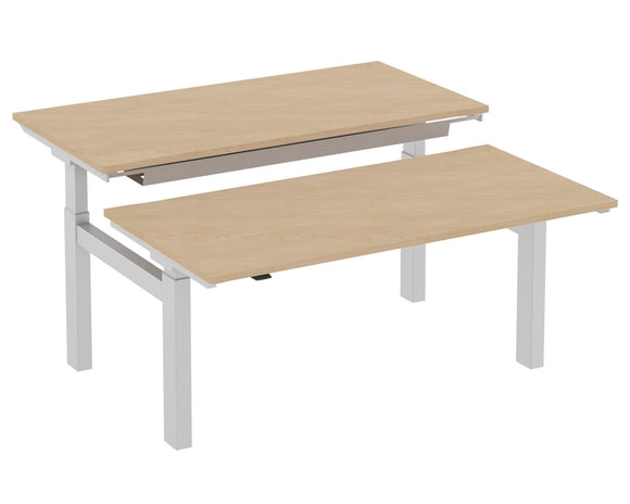Elite Progress Height Adjustable Double Bench Desk