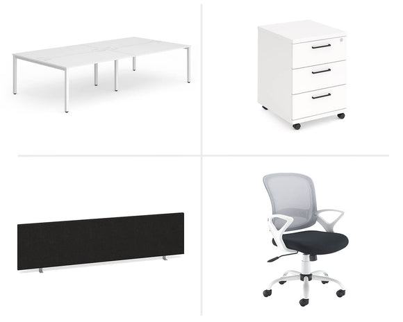 Workpro Four Person Workstation