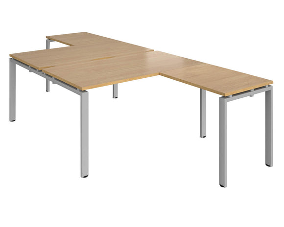 Workpro Inspire Back to Back Bench Desk with Returns