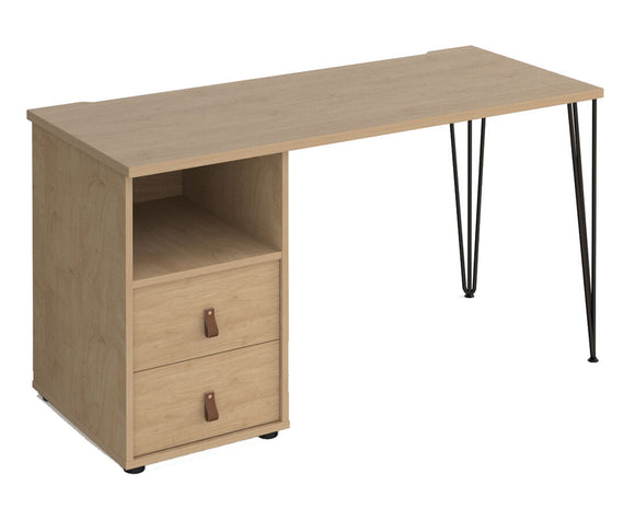 Workpro Maya Straight Desk with Support Pedestal and Drawers