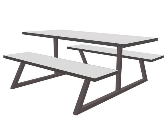Orn Nova Dining Table and Bench Set