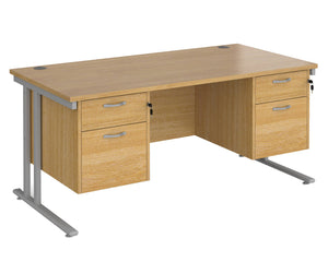 Workpro Tenor Desk with Double Pedestals