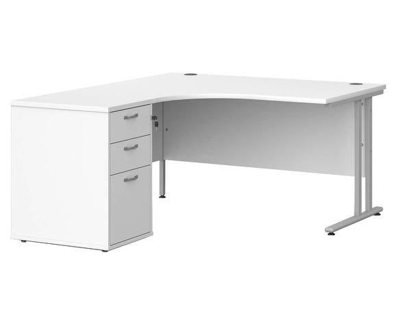 Workpro Tenor Ergonomic Desk with Pedestal