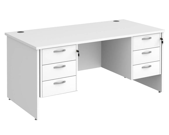Workpro Tenor Panel End Desk with Double Pedestals