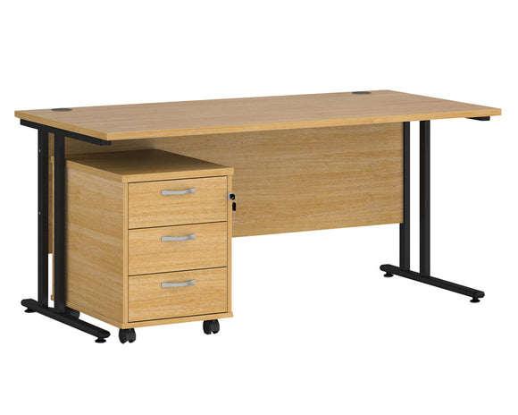 Workpro Tenor Straight Desk with Pedestal