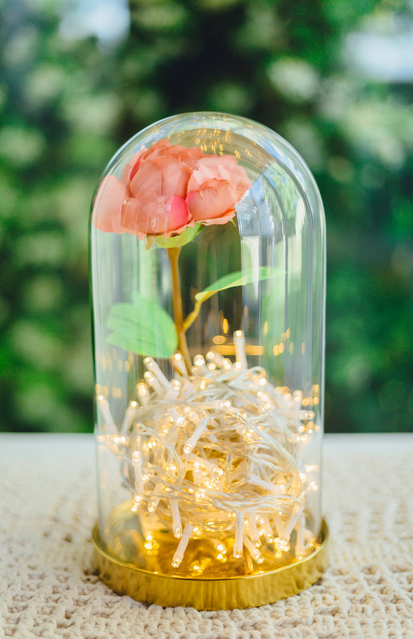 DIY Your Own Fabulous Rose Jar Light
