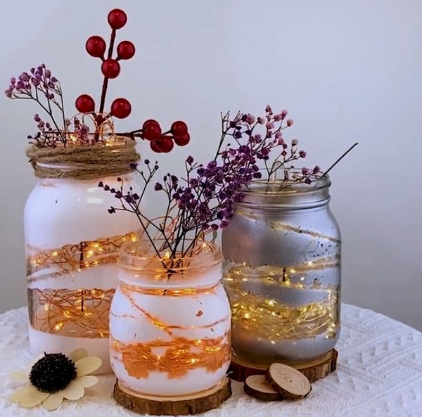 DIY Your Own Mason Jar Fairy Light