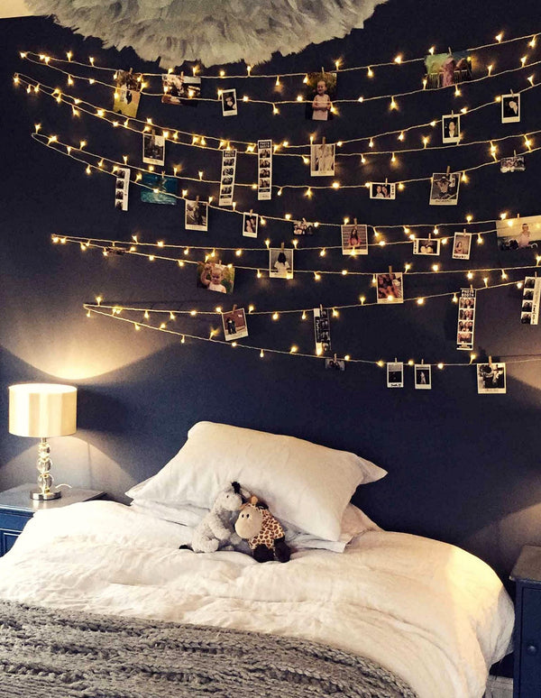 How to Decorate Bedroom Using Indoor String Lights