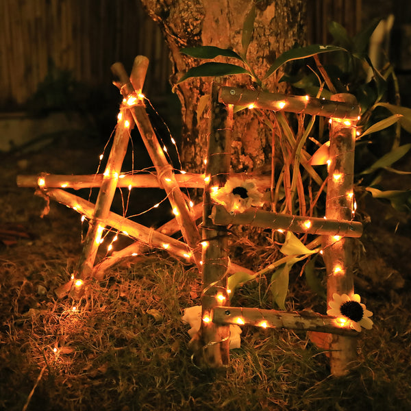 KooPower Battery-powered 5m/16.5ft 50-LED Micro Fairy Lights (2 Pack)  Silver/Copper