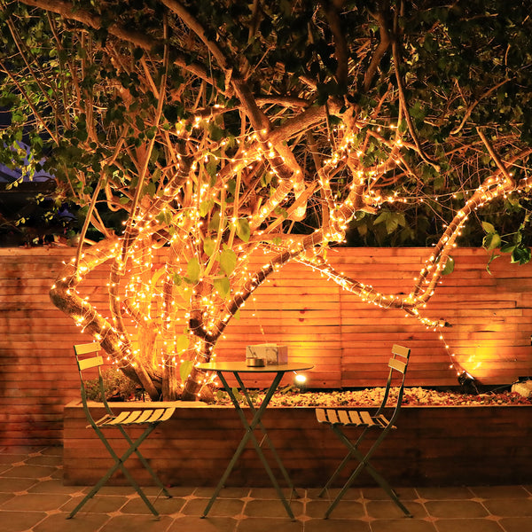 KooPower Battery-powered 11m/36ft 100-LED Outdoor Fairy Lights with Timer (4 Pack)