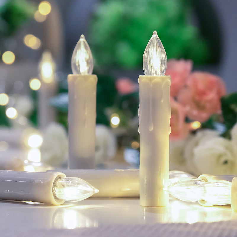 KooPower Battery-powered 20 LED Christmas Flameless Candle Lights