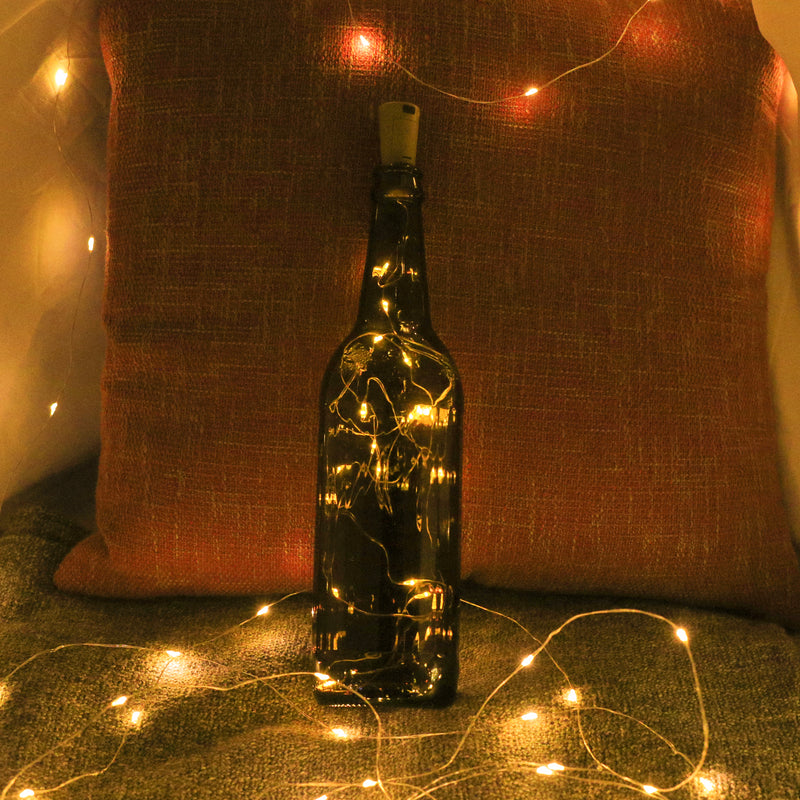 KooPower Battery-powered 2m/6.6ft 20-LED Bottle Lights  (6 Pack)