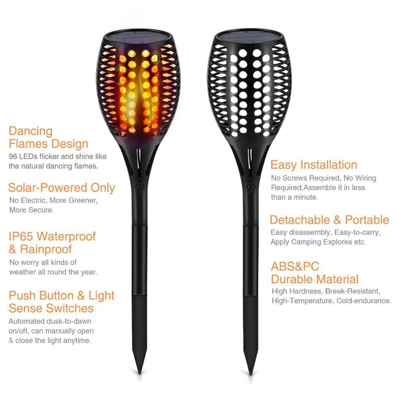 Flickering Solar Torch Lights Compare
