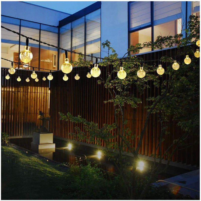 30 LED Solar Globe Crystal Ball Lights