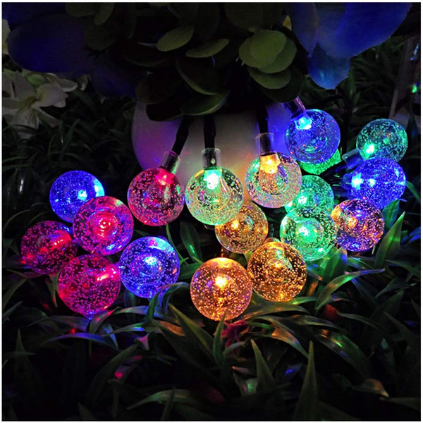 KooPower Solar 5m/16.5ft 30-LED Globe Crystal Ball Lights  (Colorful/Warm White)