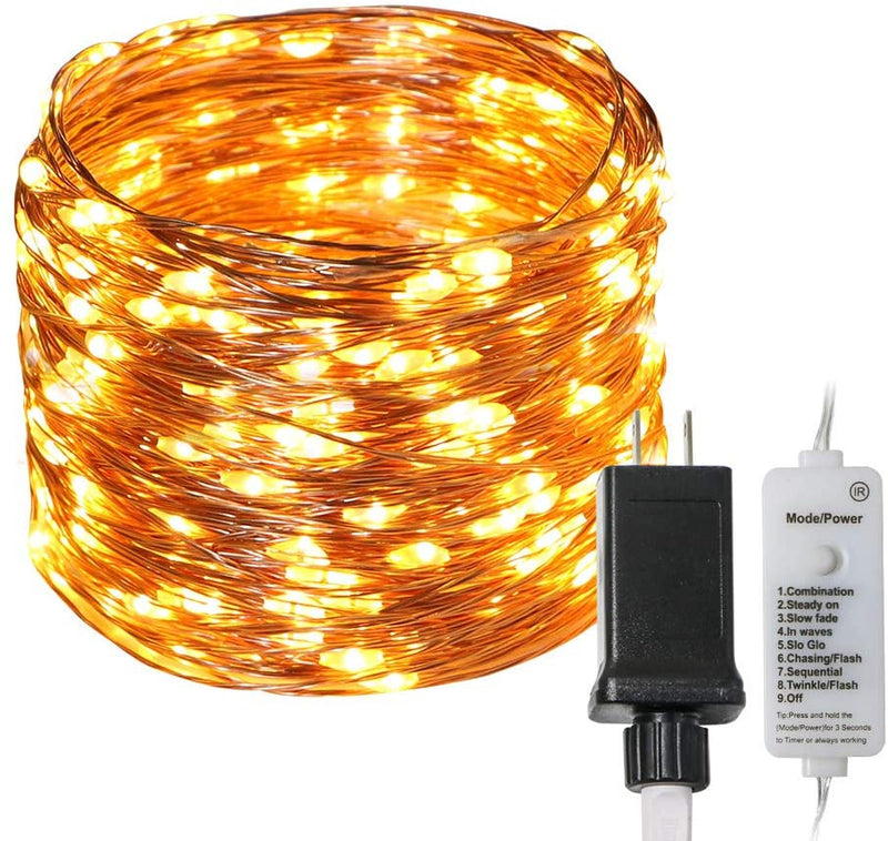 KooPower Plug-in 21m/68ft 200LED Micro Fairy Lights