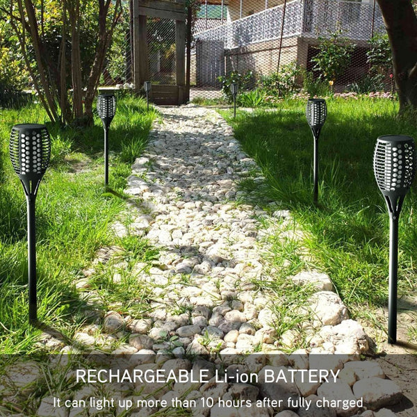 Flickering Solar Torch Lights garden