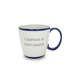 Stoneware Courage Is Contagious Mug