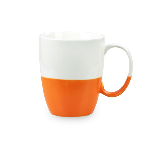 Porcelain Colorblock Mug - Orange