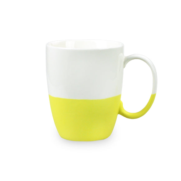 Porcelain Colorblock Mug - Yellow