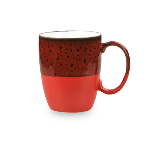 Reactive Glaze Red Mug
