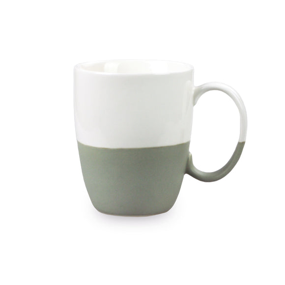 Porcelain Colorblock Mug - Grey