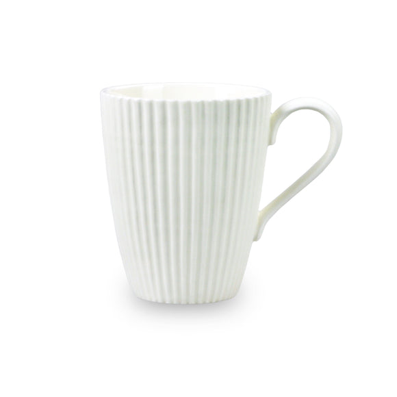 Fineline Ridge Mug Large - White