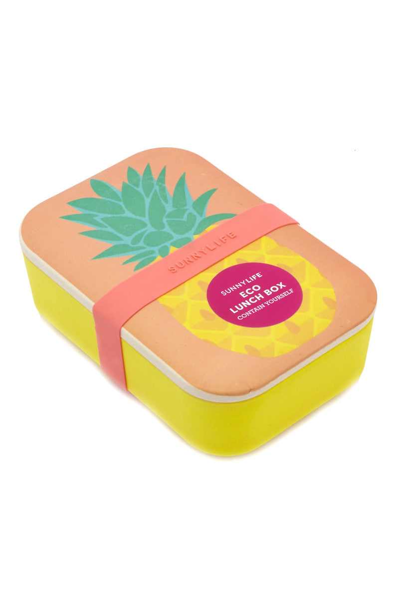 SUNNYLIFE Eco Lunch Box Accessories | Pineapple| sunnylife eco lunch box