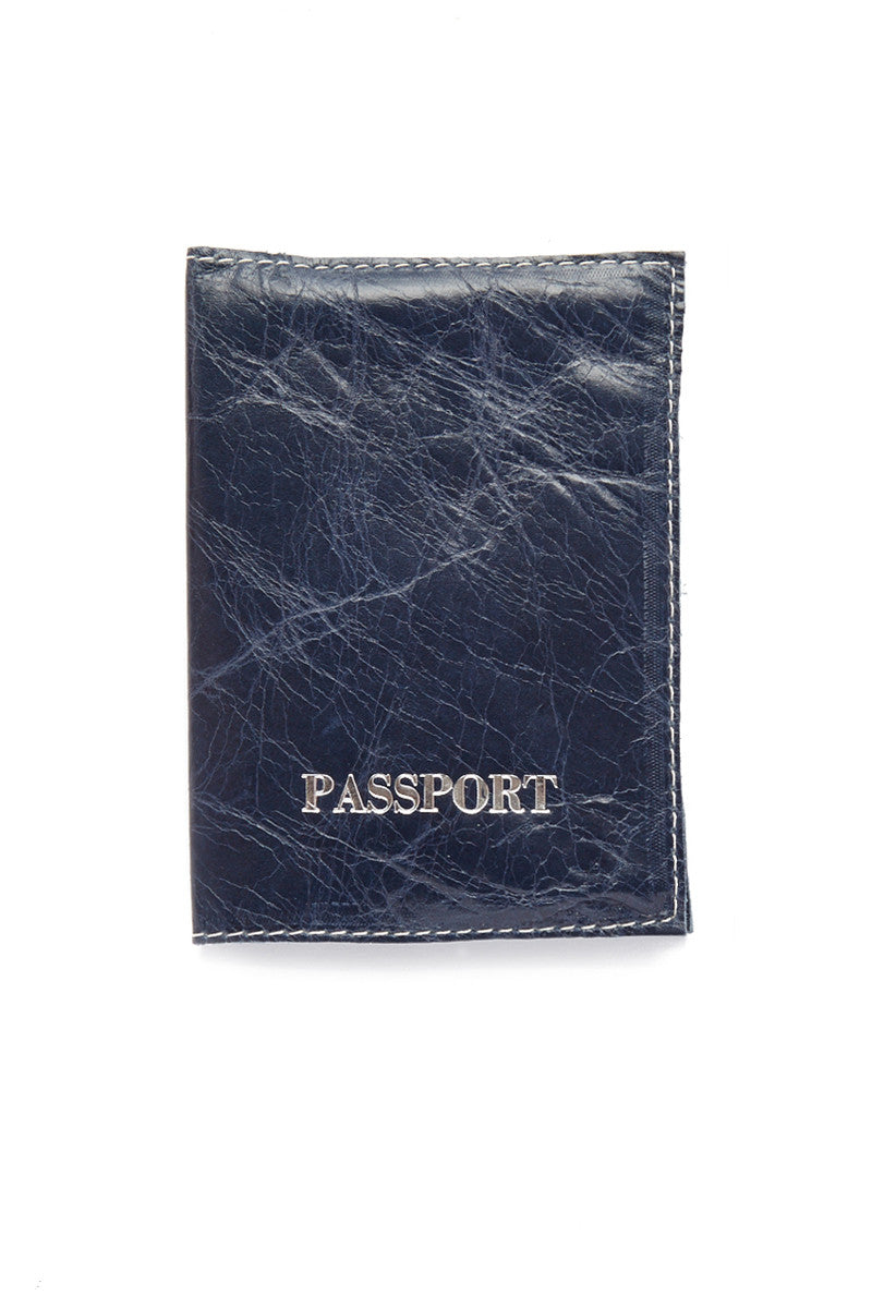 Passport Cover - Royal Blue/Silver