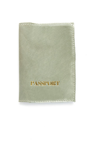 BLYTHE LEONARD Pearl Green Passport Cover Accessories | Pearl Green/Gold| Blythe Leonard Pearl Green Passport Cover
