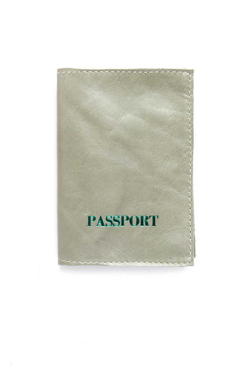 Passport Cover - Pearl Green/Forrest Green
