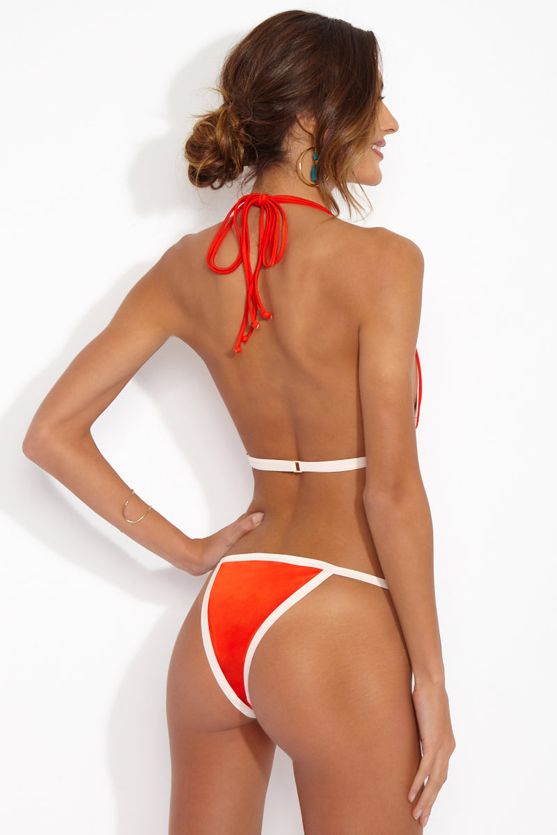 HAHt Seat Brazilian Cut Bikini Bottom - Blood Orange