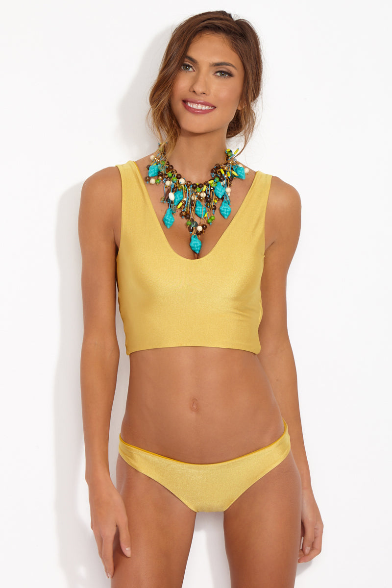 CAMI AND JAX Gold Coast Meilani Mid Rise Bottom Bikini Bottom | Gold Coast| Cami and Jax Meilani Mid Rise Bottom Front View