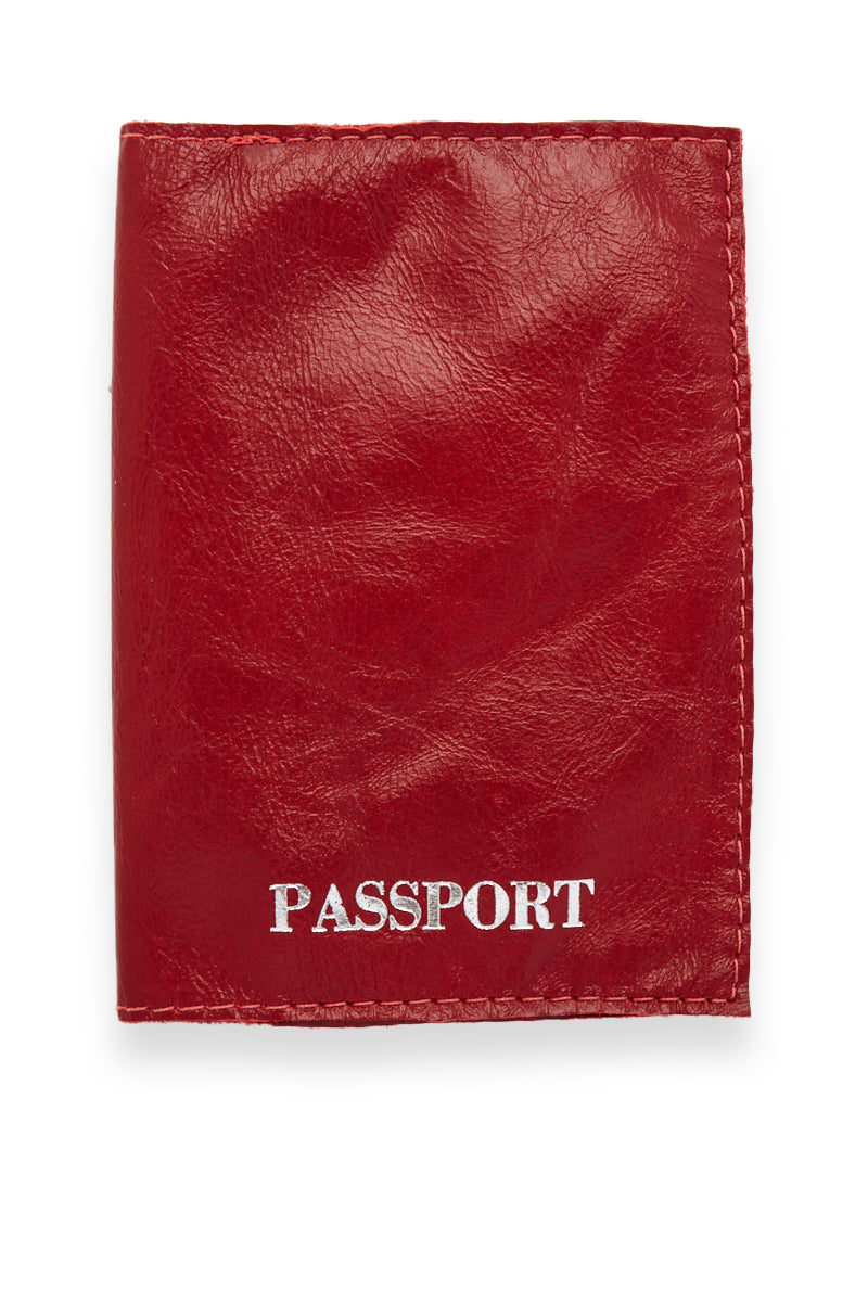 Passport Cover - Red/Silver