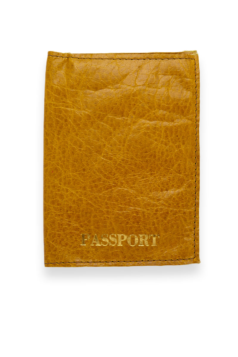 Passport Cover - Pineapple Yellow/Gold