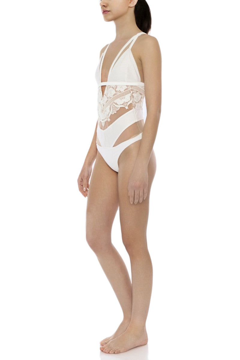 FOR LOVE AND LEMONS Grenada Lace One Piece One Piece | White Lace| for love and lemons grenada one piece
