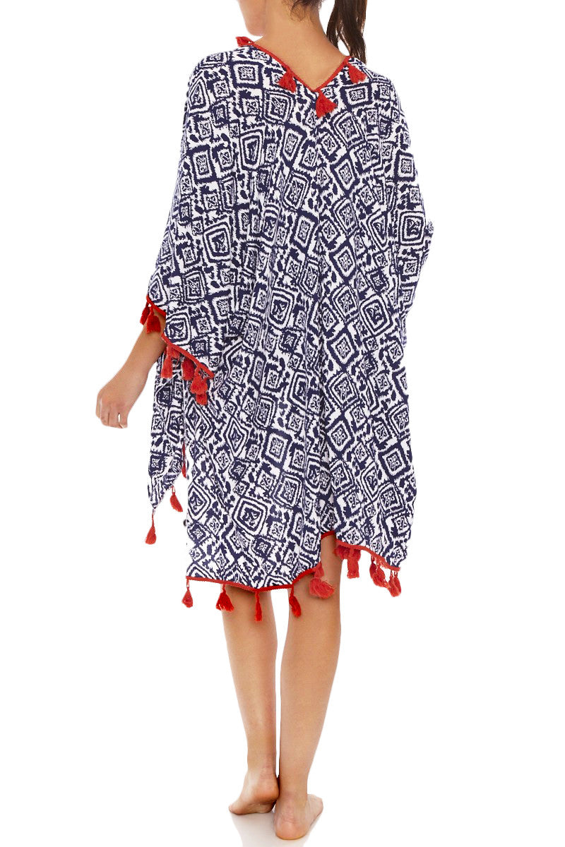 PIA ROSSINI Paloma Cover Up Cover Up | Navy/White| Piarossini Paloma Cover Up