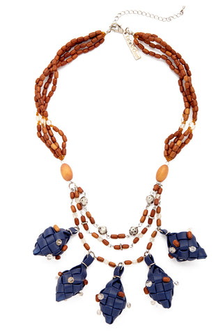 KATE CHAN Navy Mia Puso Necklace Jewelry | Navy| Kate Chan Navy Mia Puso Necklace
