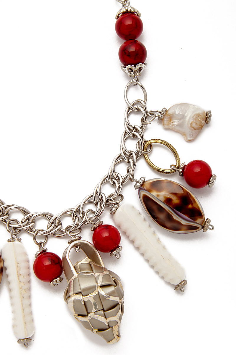 KATE CHAN Red Lily Puso Necklace Jewelry | red|
