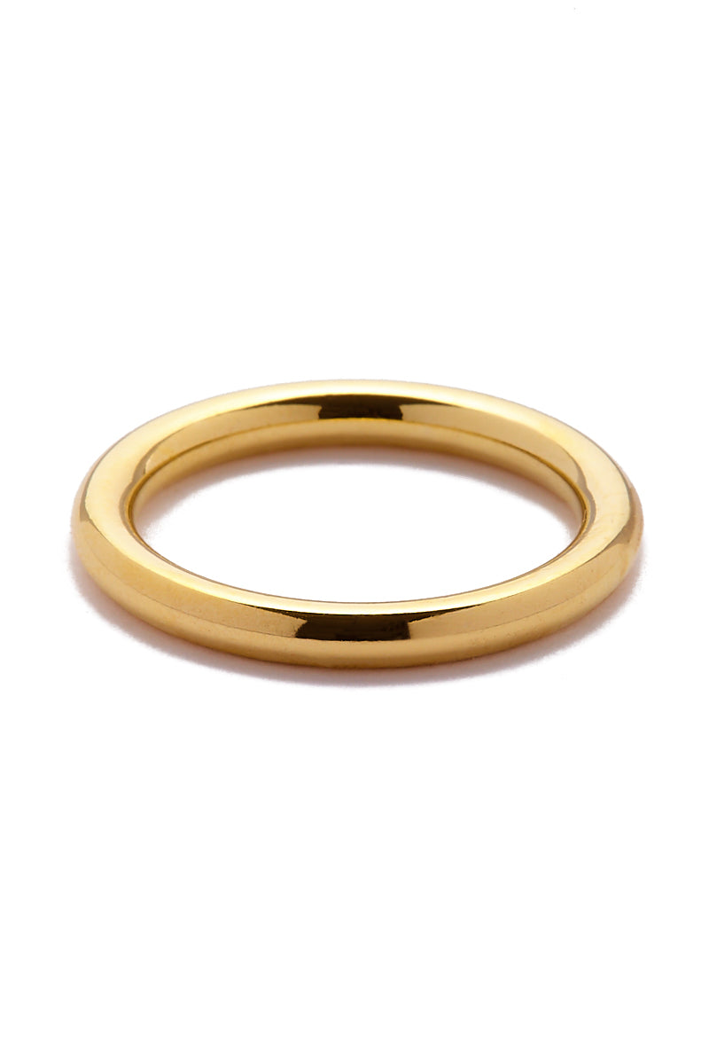 EKLEXIC Gold 2.5 MM Round Ring Jewelry | Yellow Gold|