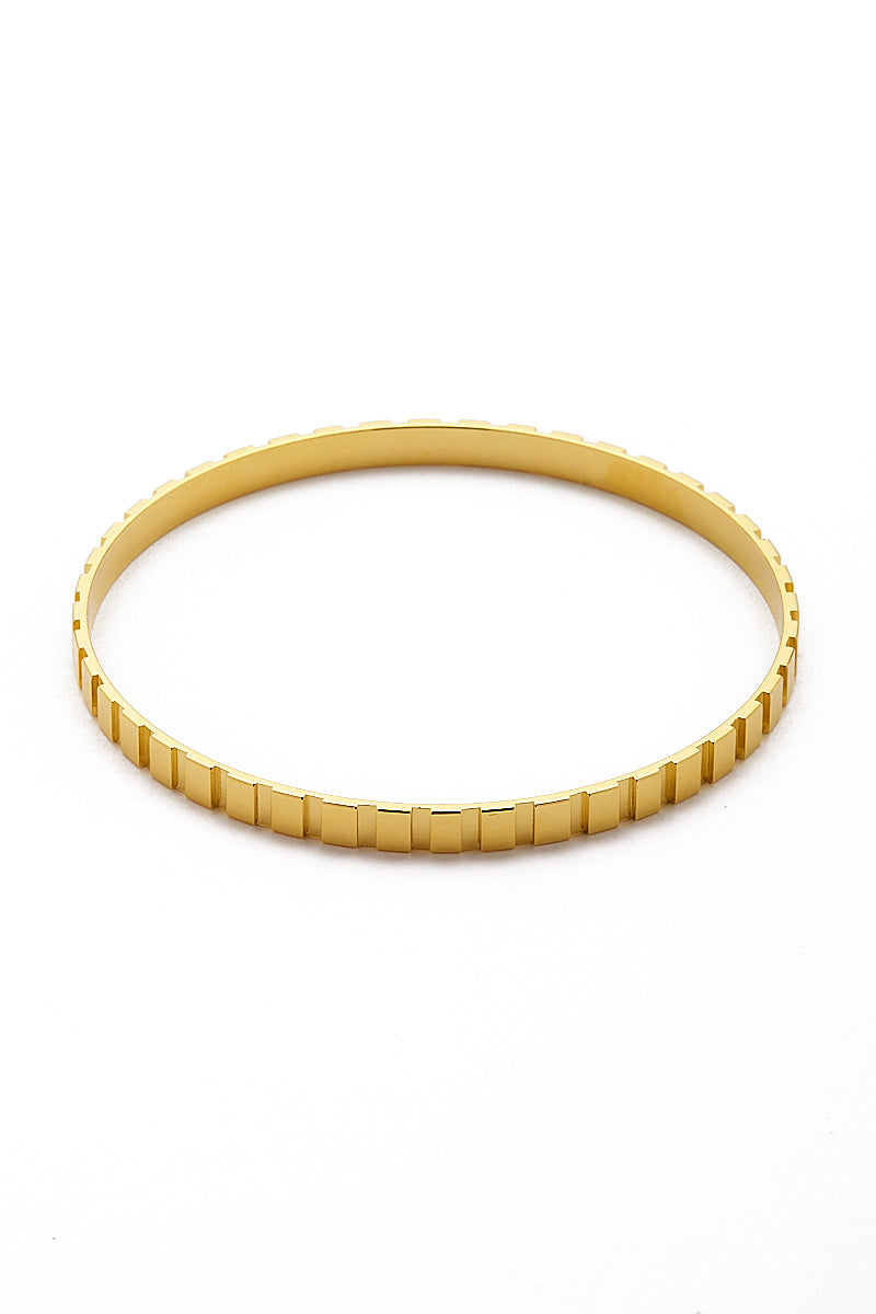 Gold Rectangle Step Pattern Cuff