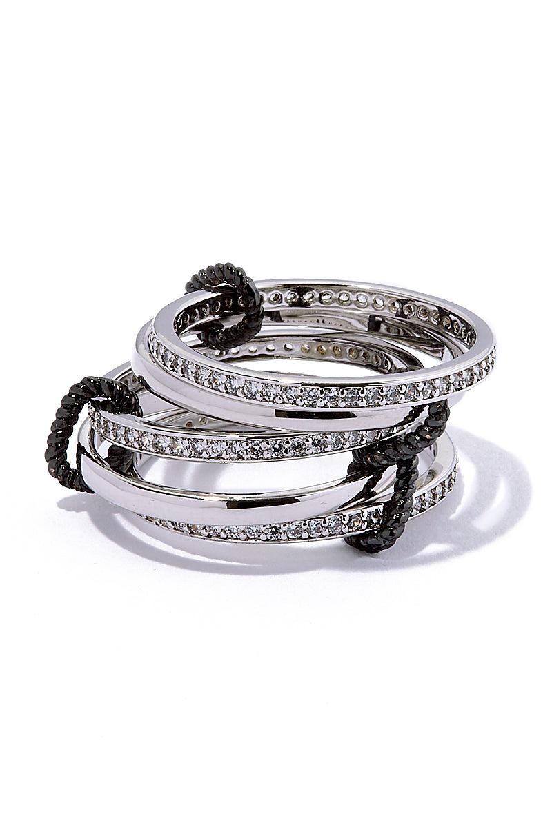 Circle Of Love Rings - Silver