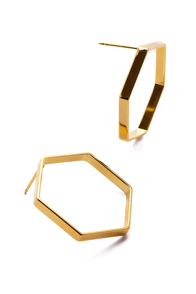 01 20 2018 Product Jewelry 0037 1 Hexagon Shaped Earrings 8211 Gold
