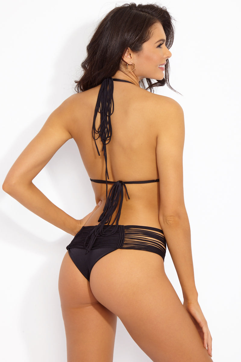 Fallen Macrame Bottom - Black
