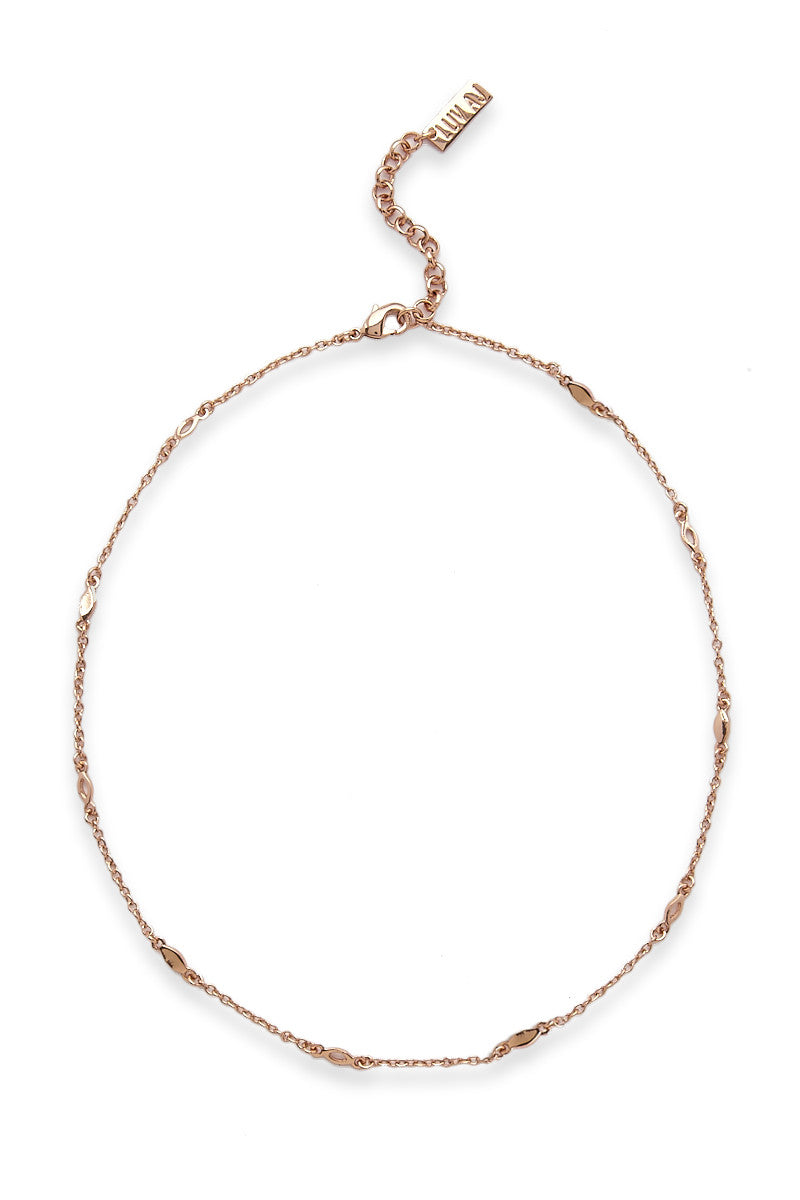 LUV AJ Mini Marquise Link Choker Accessories | Rose Gold| LUV AJ Mini Marquise Link Choker