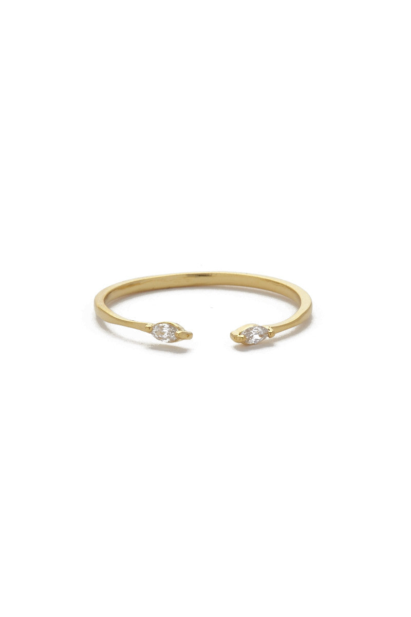 JEWEL CULT Tiny Crystal Marquis Ring Jewelry | Gold| Jewel Cult Tiny Crystal Marquis Ring