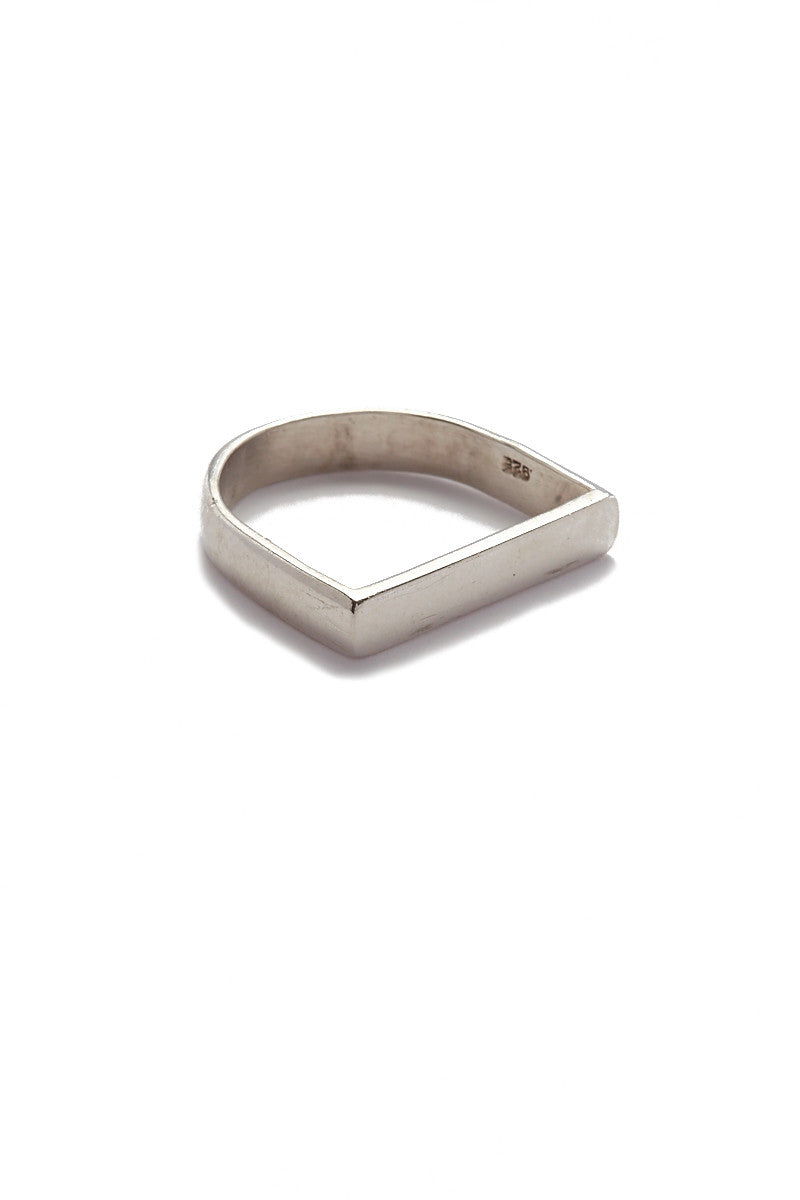 MIRA Geometric Stackable Ring Accessories   Silver  MIRA Geometric Stackable Ring