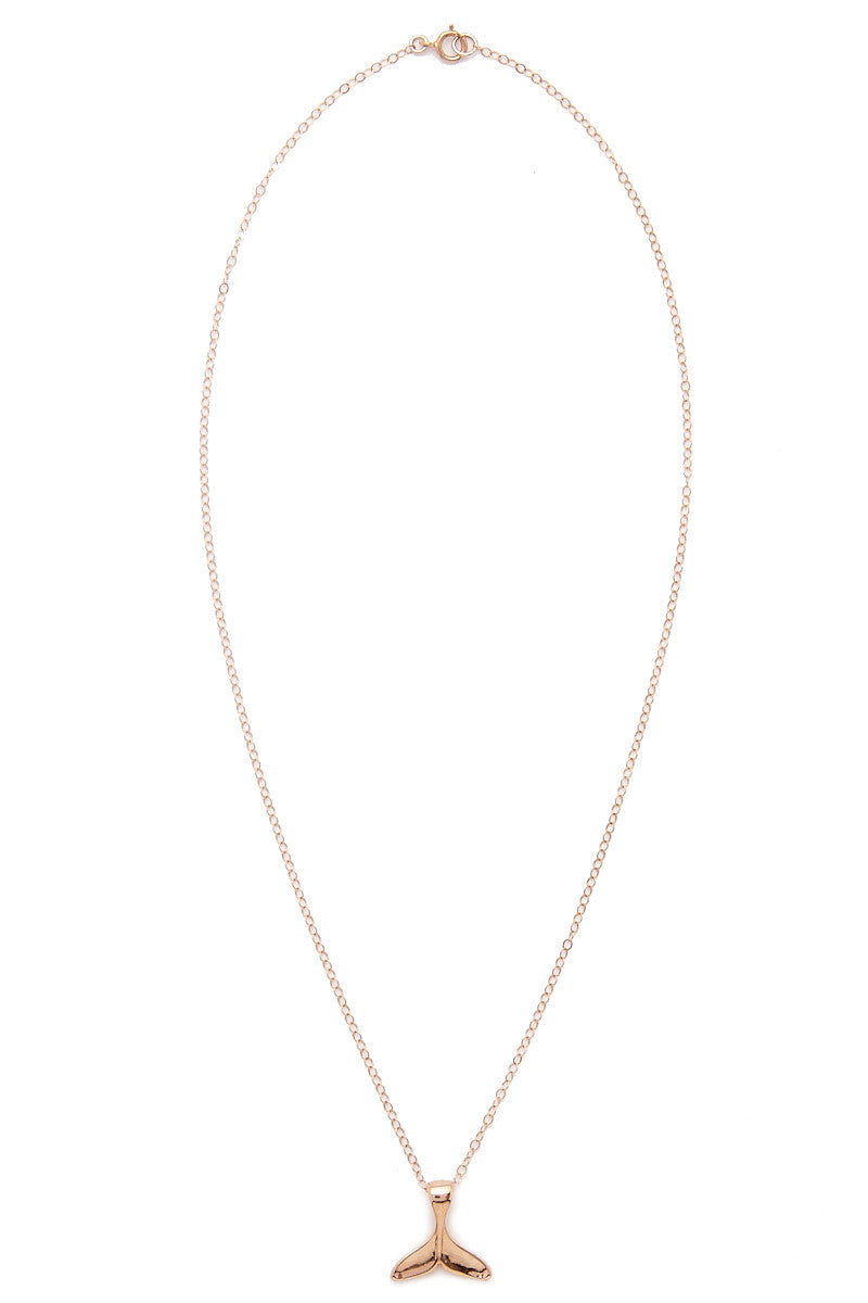Mermaid Tail Necklace - Rose Gold
