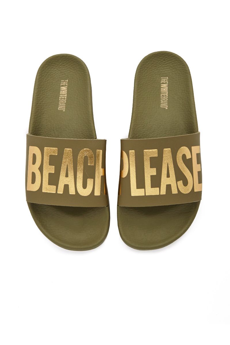 Beach Please Minimal Sandals - Army Green